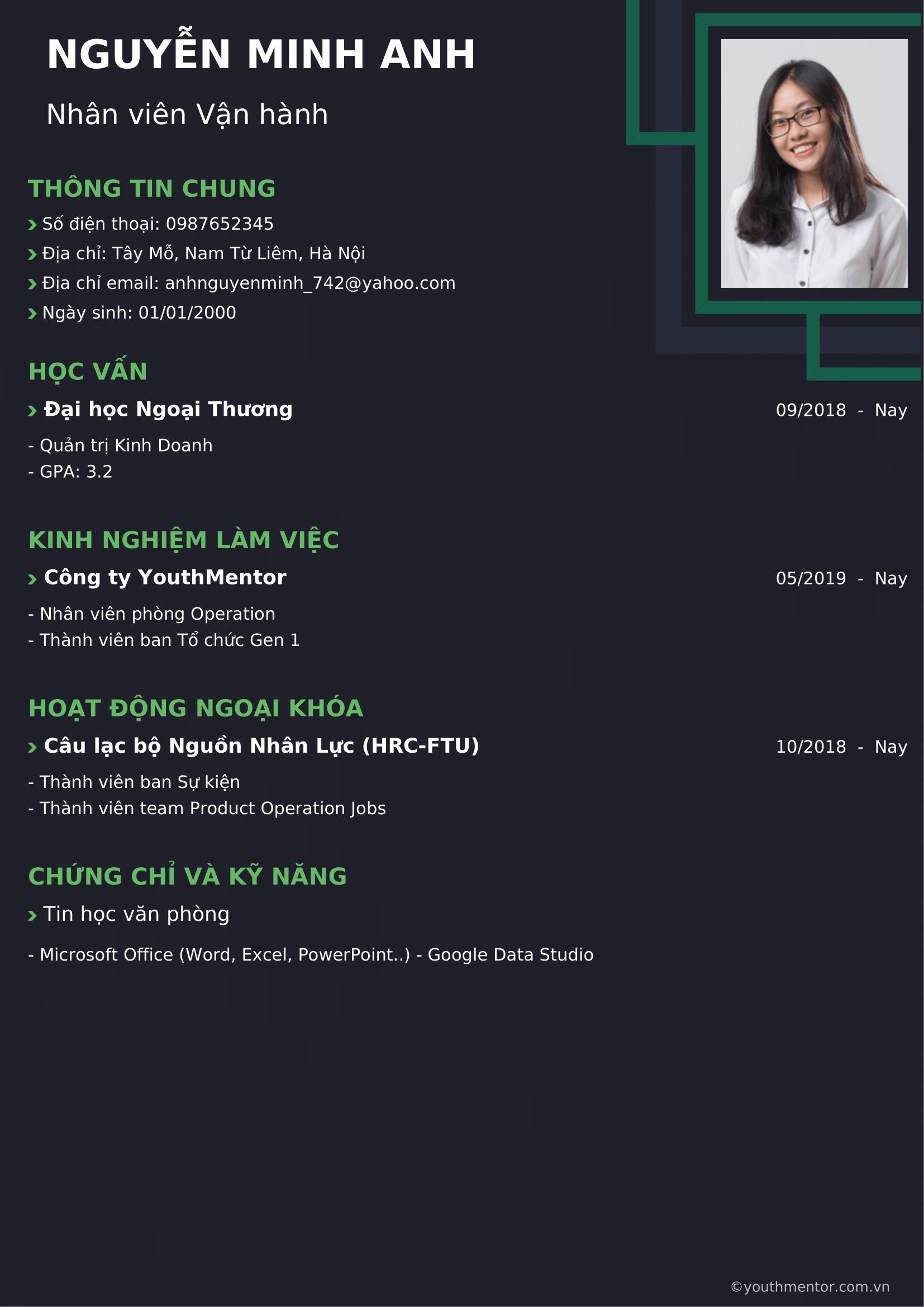 Tạo CV tiếng Việt